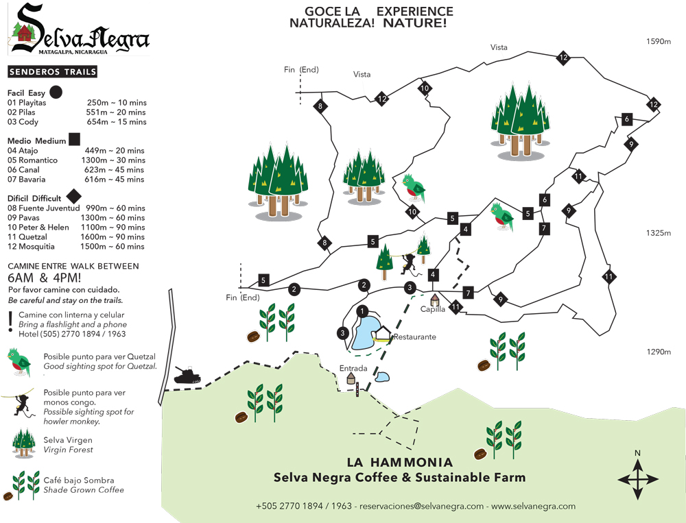 Trail map Hiking Senderismo Selva Negra Ecolodge